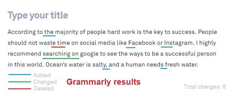 Grammarly Test Results 2