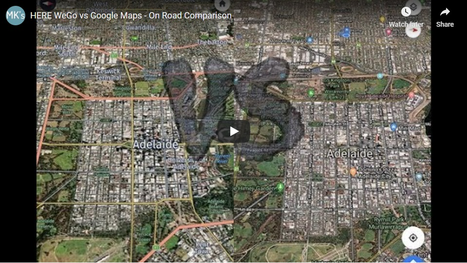 HERE WeGo vs Google Maps | Video