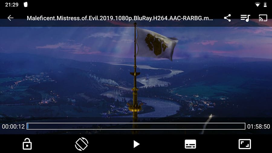 Screenshot of Popcorn Time video player on Android