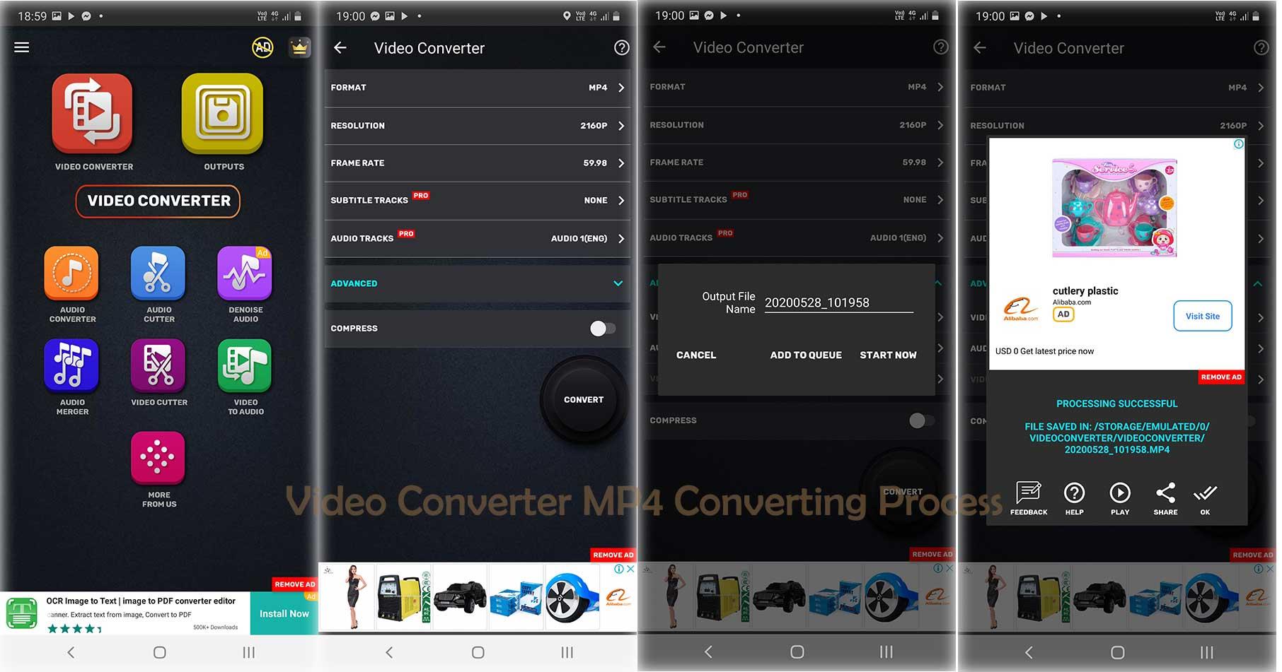 Video Converter MP4, 3GP, MKV Cutter Trimmer