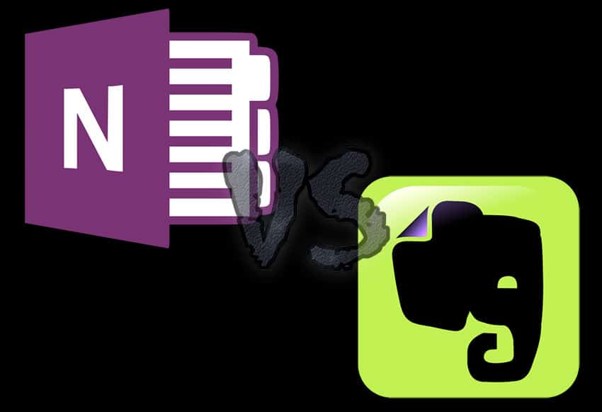 Image of Evernote and OneNote Icons