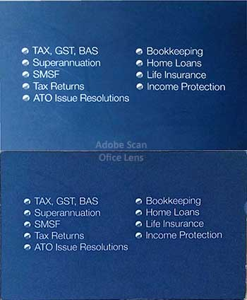 Adobe Scan vs Office Lens - Business Card Scan