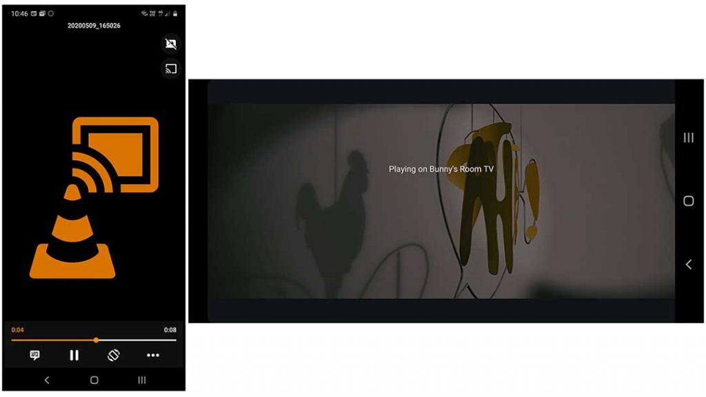 Chromecast Connection of VLC and MX Player