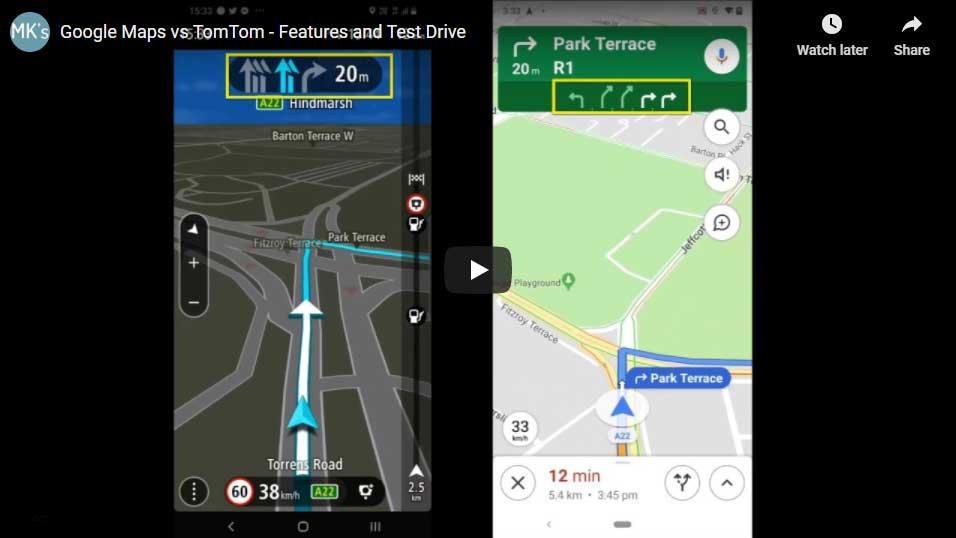 Google Maps vs. TomTom Go | Video