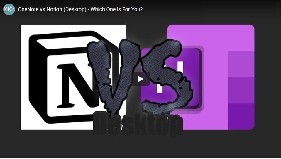 OneNote vs Notion Video