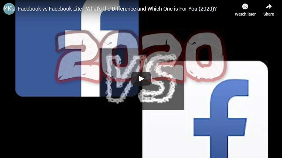 Facebook vs Facebook Lite Video