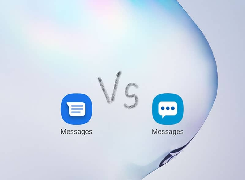 Google Messages and Samsung Messages Icon
