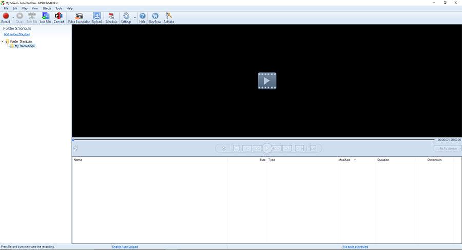 My Screen Recorder Pro Interface