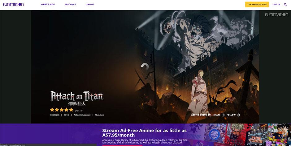Attack on Titan on Funimation