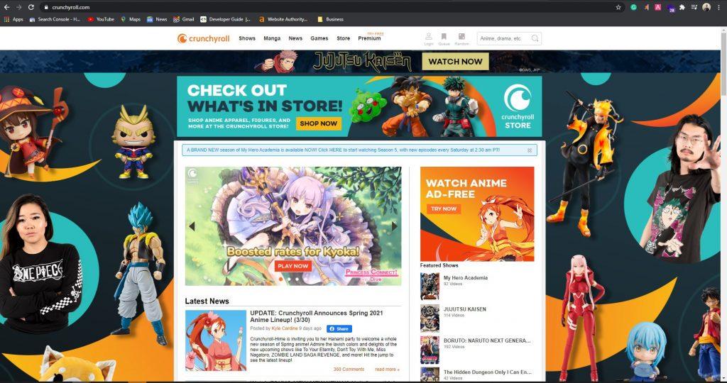 Crunchyroll Website