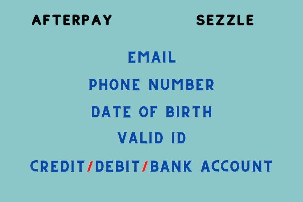 Afterpay and Sezzle Sign Up Process