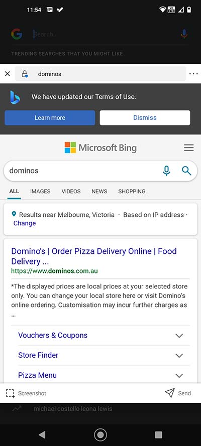 Bing Search on SwiftKey Keyboard