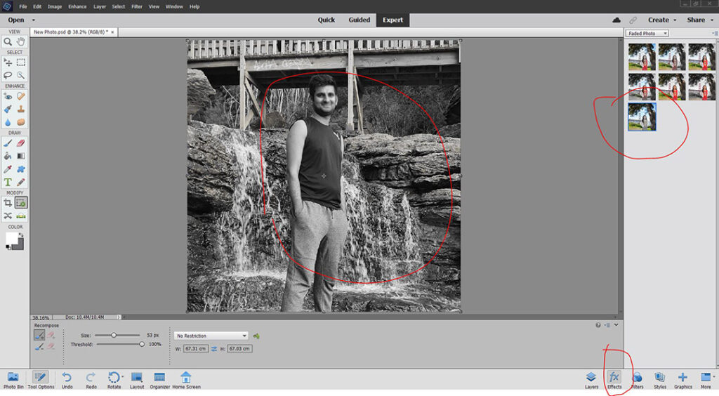 Effects Panel in Photoshop Elements