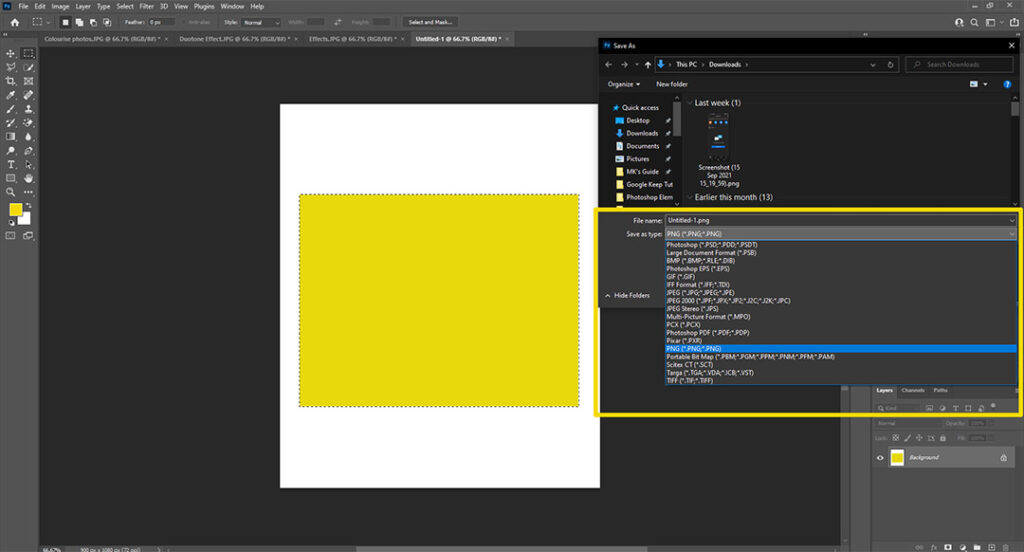 File Formats in Photoshop