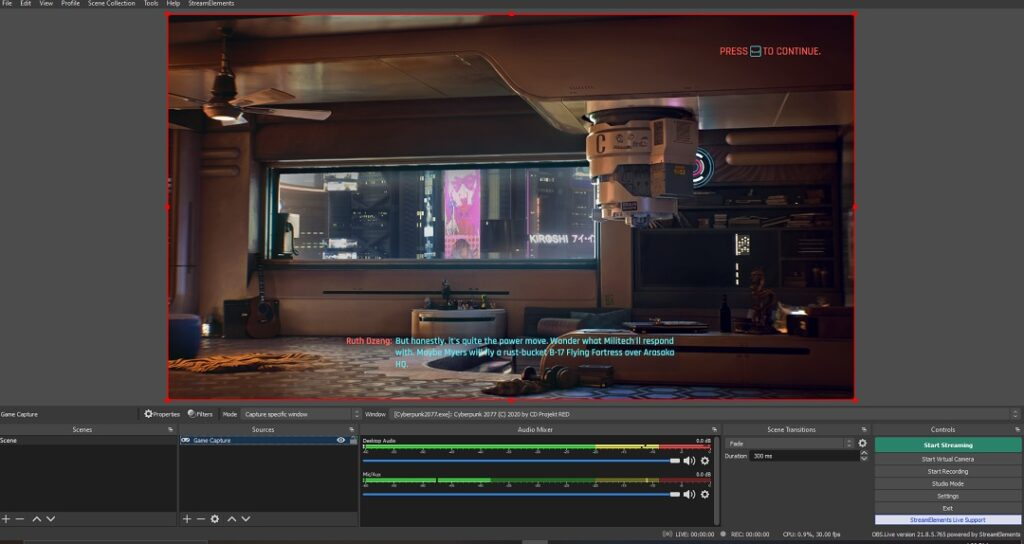 StreamElements OBS.Live Interface
