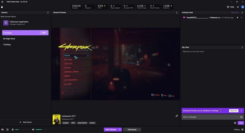 Twitch Studio Gameplay
